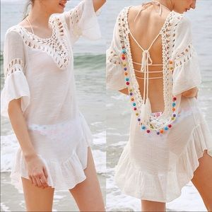 Other - ❤️ LAST ONE LEFT ☀️ NEW Pom Pom Swimsuit Coverup